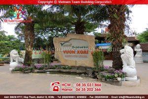 địa điểm tổ chức team building tại Hà Nội: Vườn Xoài Đông Anh